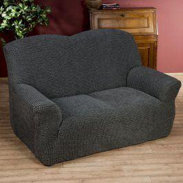 Nueva Textura decoDoma napínací potahy na sedací soupravu strečový GLAMOUR šedé na sedačku - trojkřeslo 180 - 220 cm