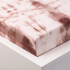 Hermann Cotton batikované napínací prostěradlo froté béžové 90 - 100 x 200 cm