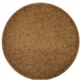 Vopi Kulatý koberec SHAGGY hnědý průměr - 120 cm