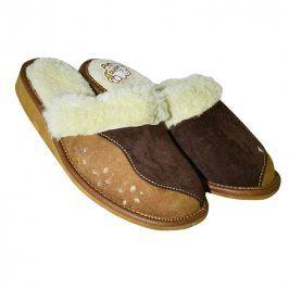 Dámská domácí obuv s koženým svrškem vel. 39