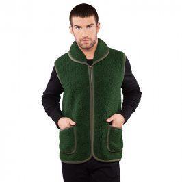 Ovčí věci Pánská lovecká vesta z Merino vlny zelená vel. M