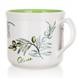 BANQUET Keramický hrnek Big Olives 630 ml