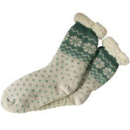 decoDoma Hřejivé ponožky na spaní zelené 35 - 38