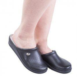 Dámské pantofle s plnou špičkou Comfort Step černé vel. 41