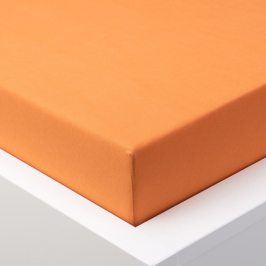 Hermann Cotton Napínací prostěradlo jersey EXCLUSIVE oranžová 90 - 100 x 200 cm