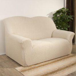 Nueva Textura decoDoma napínací potahy na sedací soupravu multielastický CARLA smetanové na sedačku - dvojkřeslo 140 - 180 cm