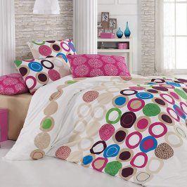 Tip Trade Bavlněné  povlečení Beneton Fushia růžové 200 x 220 cm, 2x 70 x 90 cm