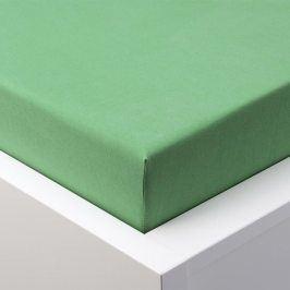 Hermann Cotton Napínací prostěradlo jersey EXCLUSIVE zelená 180 x 200 cm