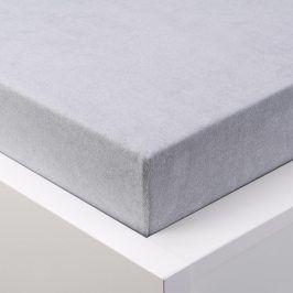 Hermann Cotton Napínací prostěradlo froté EXCLUSIVE platinově šedá 180 x 200 cm