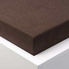 Hermann Cotton Napínací prostěradlo froté EXCLUSIVE čokoládová 180 x 200 cm