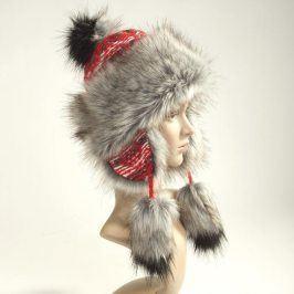 Ovčí věci Dámská zimní čepice červená