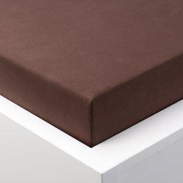 Hermann Cotton Napínací prostěradlo jersey EXCLUSIVE čokoládová 90 - 100 x 200 cm 2 ks