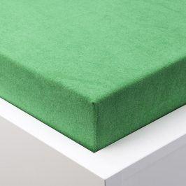 Hermann Cotton Napínací prostěradlo froté EXCLUSIVE zelená 90 - 100 x 200 cm 2 ks