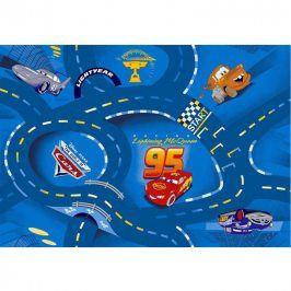 Vopi Dětský koberec World of Cars modrý 80 x 120 cm