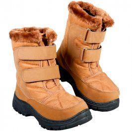 Zimní boty s hřejivým beránkem hnědé vel. 36
