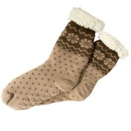 decoDoma Hřejivé ponožky na spaní hnědé 35 - 38