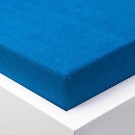 Hermann Cotton Napínací prostěradlo froté EXCLUSIVE královská modrá 90 - 100 x 200 cm