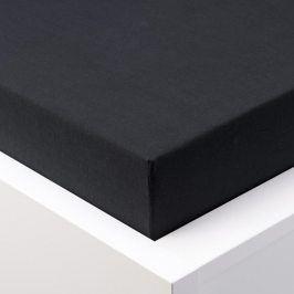 Hermann Cotton Napínací prostěradlo jersey EXCLUSIVE černá 90 - 100 x 200 cm