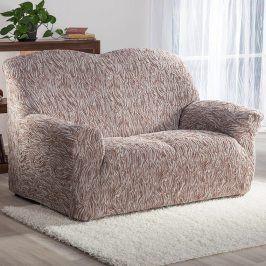 Nueva Textura decoDoma napínací potahy na sedací soupravu strečový 3D FUSTA béžové na sedačku - dvojkřeslo 140 - 180 cm