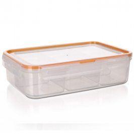 BANQUET Dělená dóza na potraviny SUPER CLICK 2,1 L oranžová