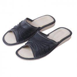 Ovčí věci Dámské kožené pantofle na klínku vel. 40