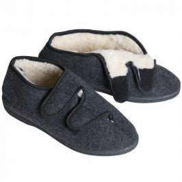 Ovčí věci Domácí obuv bačkory důchodky šedé vel. 36