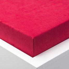 Hermann Cotton Napínací prostěradlo froté EXCLUSIVE červená 180 x 200 cm