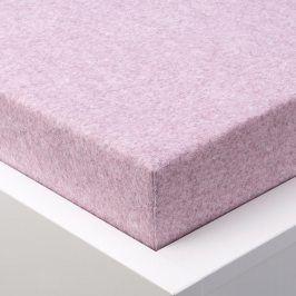 Hermann Cotton napínací froté prostěradlo melé růžová 180 x 200 cm