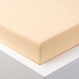 Hermann Cotton Napínací prostěradlo froté EXCLUSIVE béžová 90 - 100 x 200 cm