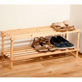 TORO Dřevěný botník 2patrový