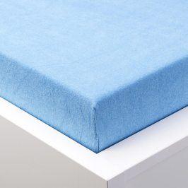 Hermann Cotton Napínací prostěradlo froté EXCLUSIVE modrá 90 - 100 x 200 cm