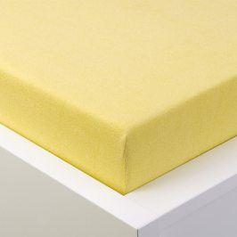 Hermann Cotton Napínací prostěradlo froté EXCLUSIVE světle žlutá 90 - 100 x 200 cm
