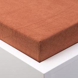 Hermann Cotton Napínací prostěradlo froté EXCLUSIVE cihlová 90 - 100 x 200 cm