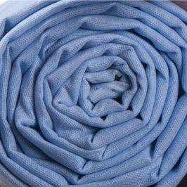 STANEX bavlněné plátěné prostěradlo 140 x 230 cm světle modrá
