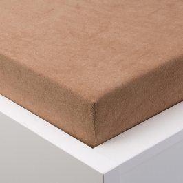 Hermann Cotton Napínací prostěradlo froté EXCLUSIVE světle hnědá 90 - 100 x 200 cm 2 ks