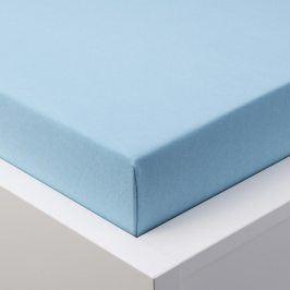 Hermann Cotton Napínací prostěradlo jersey EXCLUSIVE modrá 90 - 100 x 200 cm