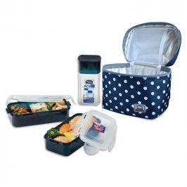 Tečkovaná taška Lunch Boxes modrá