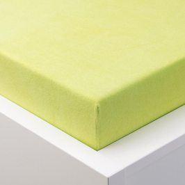 Hermann Cotton Napínací prostěradlo froté EXCLUSIVE zelené jablko 180 x 200 cm