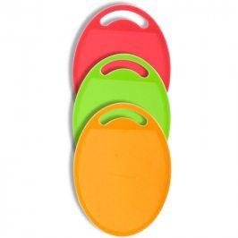BANQUET Sada plastových krájecích prkének 3KS - tvar ovál Cullinaria Plastia Colore