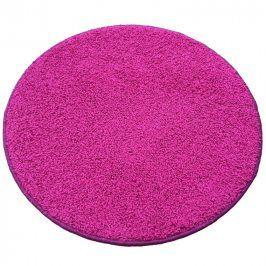 Vopi Kulatý koberec SHAGGY růžový průměr - 120 cm