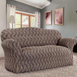 GA.I.CO decoDoma napínací potahy na sedací soupravu bielastický INFINITO hnědá na sedačku - dvojkřeslo 120 - 160 cm