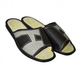 Pánské domácí kožené pantofle se vzorem vel. 42