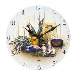 BANQUET nástěnné hodiny LEVANDULE