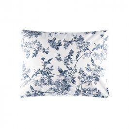 Hermann Cotton Bavlněný povlak na polštář Mona modrobílý 70 x 90 cm