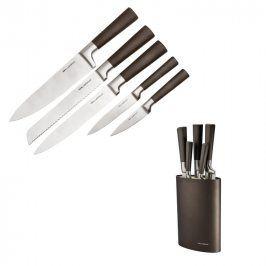 Florentyna Nerezové nože v černém oválném bloku