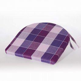 Půlkulatý sedák Indie kostka fialový