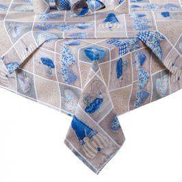 Ubrus patchwork Srdce modré 140 x 180 cm