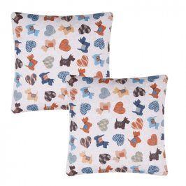 Povlak na polštářek barevná zvířata 2 ks