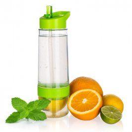 Banquet Sqeezy 650ml sportovní láhev s lisem na citrusy zelená