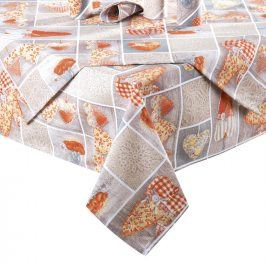 Ubrus patchwork Srdce oranžové 80 x 80 cm